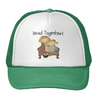 Read Together - Mom and Girl Tshirts and Gifts Trucker Hat
