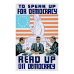 Read Up On Democracy Poster