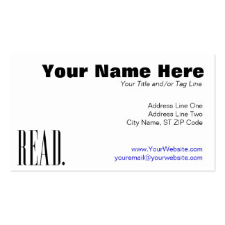 Read (Ver 1) Double-Sided Standard Business Cards (Pack Of 100)