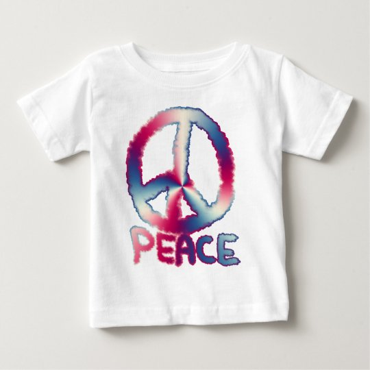 Read White and Blue Peace Baby T-Shirt