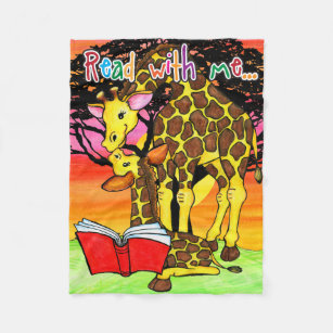 Read with me...giraffe blanket