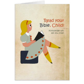 Read Your Bible, Child Greeting Card