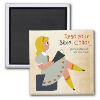 Read Your Bible, Child - Elisha's Story 2 Inch Square Magnet