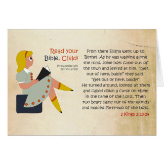 Read Your Bible, Child - Elisha's Story Greeting Card