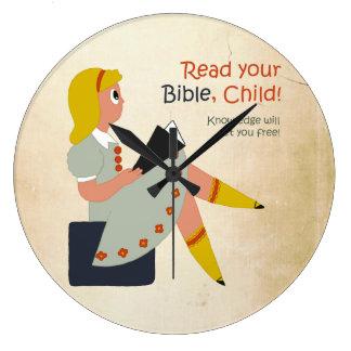 Read Your Bible, Child - Elisha's Story Wallclock