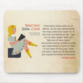 Read Your Bible, Child - Elisha's Story Mouse Pad
