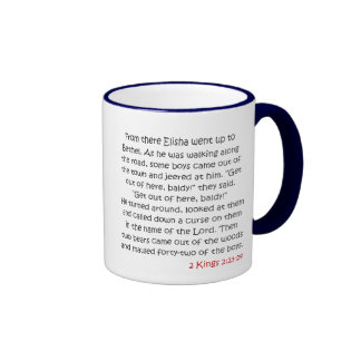 Read Your Bible, Child - Elisha's Story Ringer Coffee Mug