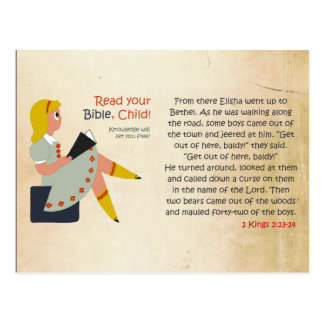 Read Your Bible, Child - Elisha's Story Postcard