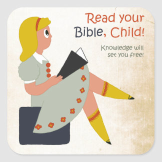 Read Your Bible, Child - Elisha's Story Square Sticker