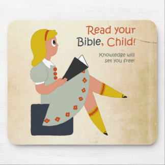 Read Your Bible, Child Mouse Pad
