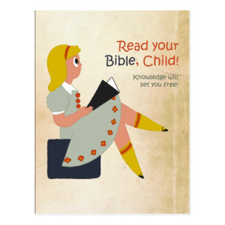 Read Your Bible, Child Postcard
