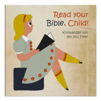 Read Your Bible, Child Poster