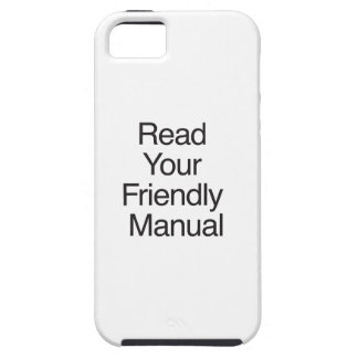 Read Your Friendly Manual iPhone SE/5/5s Case