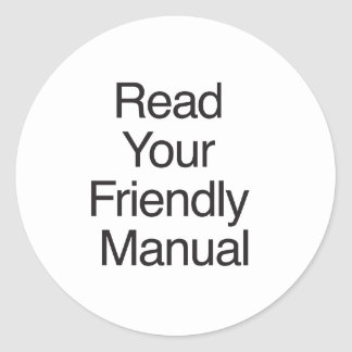 Read Your Friendly Manual Stickers