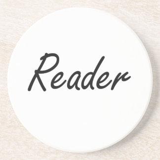 Reader Artistic Job Design Beverage Coaster