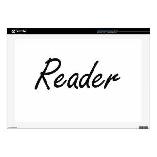 Reader Artistic Job Design Laptop Skins