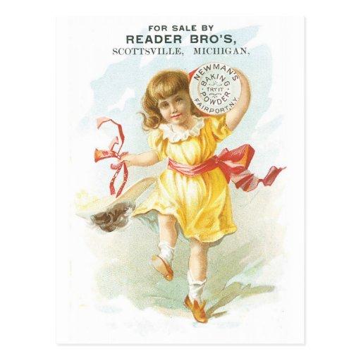 Reader Bros Baking Powder Postcard