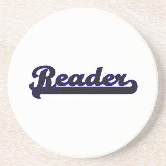 Reader Classic Job Design Beverage Coaster