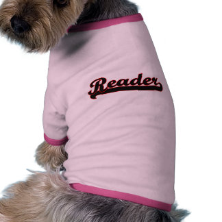 Reader Classic Job Design Dog Tshirt