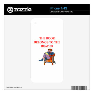 READER DECALS FOR iPhone 4
