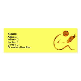 Reader Golden Profile Cards Double-Sided Mini Business Cards (Pack Of 20)