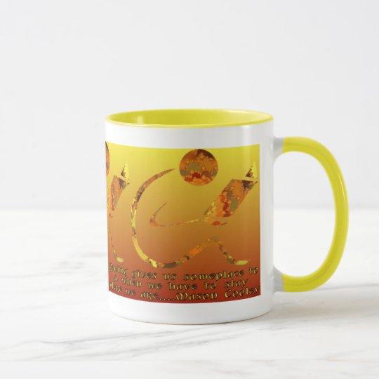 Reader Golden Qoute Mug