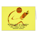Reader Golden Quote Blank Card