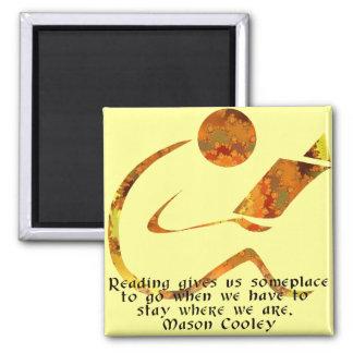 Reader Golden Quote Magnet