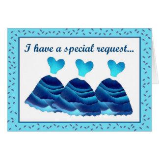 READER  Invitation Blue Dresses with leaf trim Greeting Card