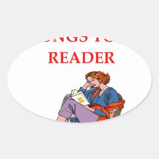 READER OVAL STICKER