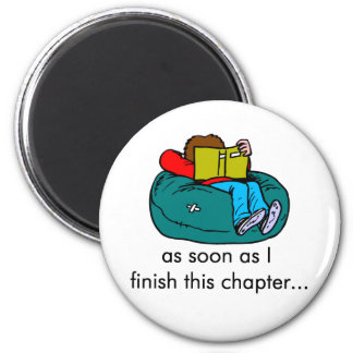 Reader T-shirts and Gifts. 2 Inch Round Magnet