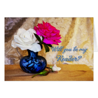 Reader wedding party invitation greeting card
