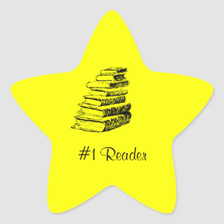 Reader Yellow Star Custom Bookplate Star Sticker