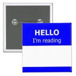 Readers Advisory 2 Inch Square Button