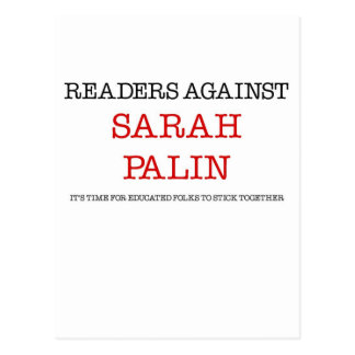 Readers Against Sarah Palin Post Cards