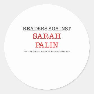 Readers Against Sarah Palin Round Sticker