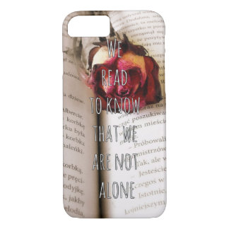 Readers/Book lovers Qoute iPhone 7 Case