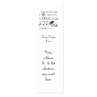 Reader's C.S.Lewis Quote Bookmark to Customize Double-Sided Mini Business Cards (Pack Of 20)