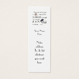 Reader's C.S.Lewis Quote Bookmark to Customize Mini Business Card