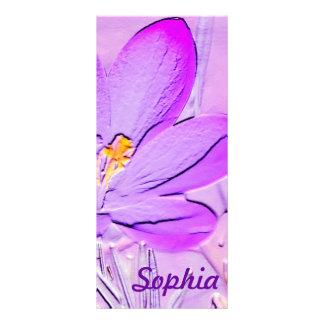 Reader's Lament Poem with a Purple Crocus Bookmark Rack Card