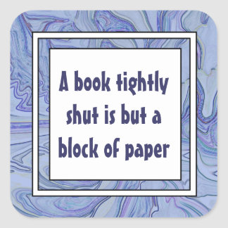 readers proverb square sticker