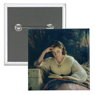 Reading , 1863 2 inch square button