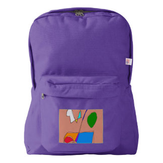 Reading a Purple Book American Apparel™ Backpack