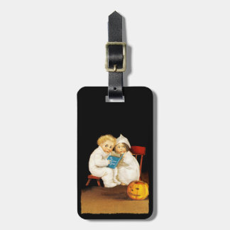 Reading a Scary Story Luggage Tag