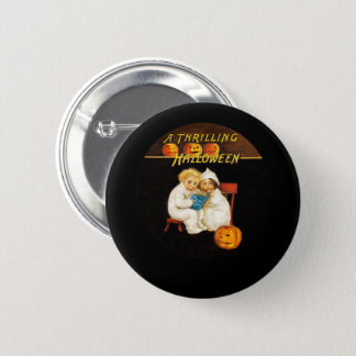 Reading a Scary Story Pinback Button