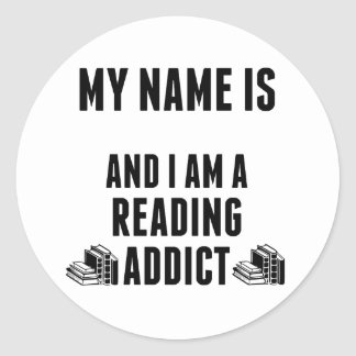 Reading Addict Classic Round Sticker