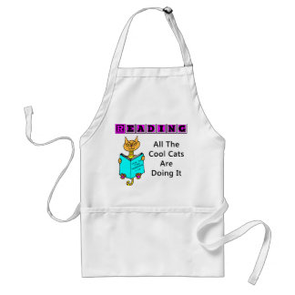 Reading, All The Cool Cats Are Doing It Adult Apron