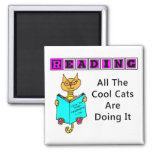 Reading, All The Cool Cats Are Doing It Magnet