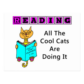Reading, All The Cool Cats Are Doing It Post Card