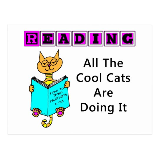 Reading, All The Cool Cats Are Doing It Postcard